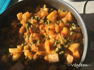 Recette Ragoût de pommes de terre aux petits pois