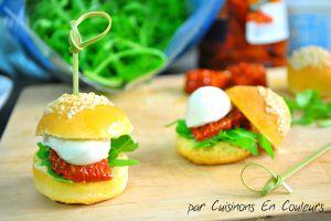 Recette Mini-Hamburgers aux couleurs de l'Italie