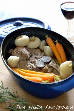 Recette Rouelle de porc aux carottes et navets nouveaux