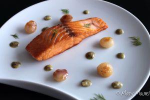 Recette Dos de saumon rôti, crème d'oseille citronnée