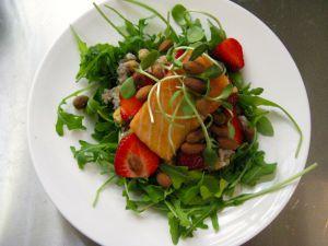 Recette Saumon confit, sarrasin, pois chiches et fraises fraises fraises