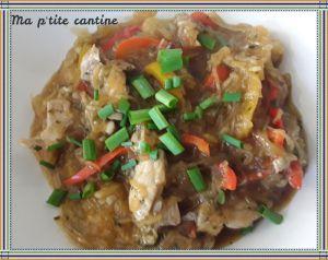 Recette Courge spathetti au porc à l'asiatique