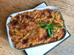 Recette Au four – Gratin de pâtes aux courgettes
