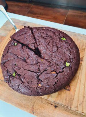 Recette Gâteau au chocolat équitable courgettes locales à l'huile de chanvre et fleurs de CBD ( Lemon Tonic)