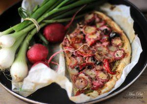 Recette Tarte aux radis roses comme une pizza