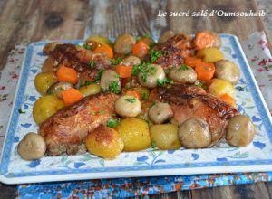 Recette Cuisse de poulet farcie