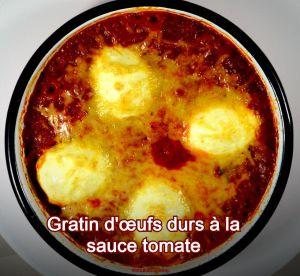 Recette Gratin d'œufs durs à la sauce tomate