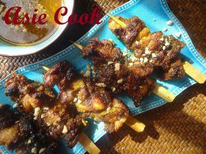 Recette Asie cook m'a cuisinee! avec Les Brochettes de Poulet à la Sauce Cacahuètes