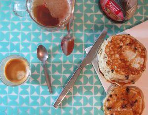 Recette Pancakes aux pepites de chocolat et vegan