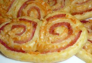 Recette Palmier feuilleté au jambon fromage