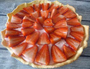 Recette Tarte aux deux fraises (Tagada et fraises fruit)