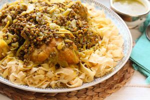 Recette Rfissa au poulet : Recette de la cuisine marocaine traditionnelle