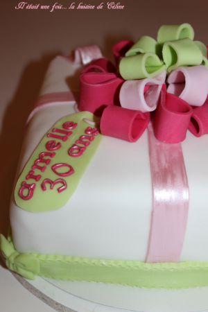 Recette Gâteau comme un cadeau { gateau 3d } { gateau pate à sucre }
