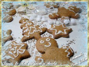 Recette Biscuits de Noël au chocolat épicé sans gluten