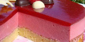 Recette Bavarois aux framboises, miroir aux fraises ou framboises
