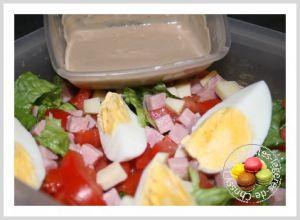 Recette Salade comtoise et sa sauce noisette