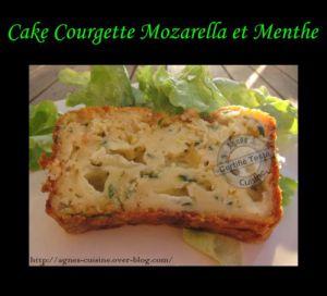 Recette Cake courgette, mozzarella et menthe