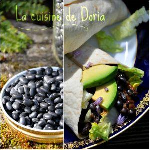 Recette Burritos aux haricots noirs