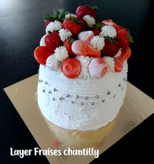Recette Layer cake fraise chantilly