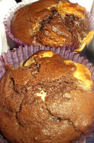 Recette Muffins au Chocolat , pépites de chocolat blanc et Chamallow