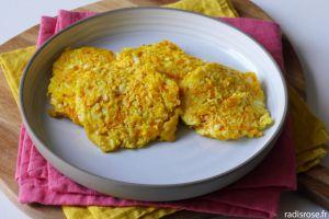 Recette Galettes de chou-fleur carotte au fromage