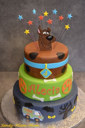 Recette Gâteau pâte à sucre Scooby Doo