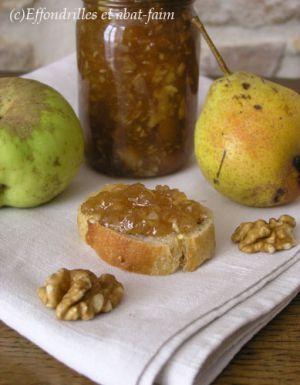 Recette Confiture d'automne (poires, pommes, noix)