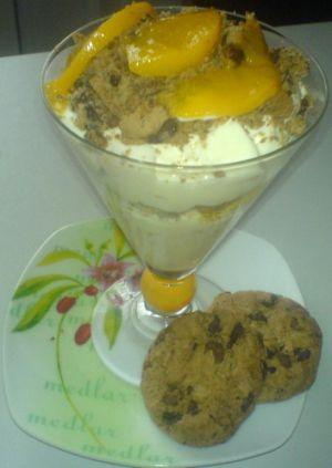 Recette Creme mascarpone peches et cookies