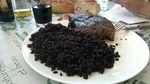 Recette Cote de boeuf et son riz noir  nérone