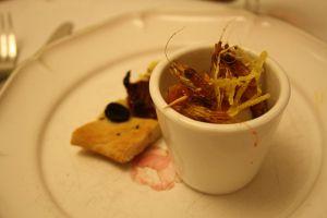 Recette Verrines de coquille St. Jacques et crevettes grises au parfum d'agrumes