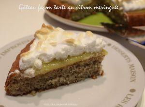 Recette Gâteau façon tarte au citron meringuée