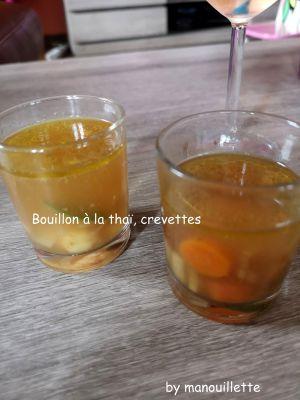 Recette Bouillon à la thaï, crevettes