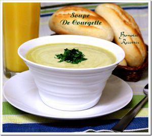 Recette Soupe de courgette,soupe de courgettes