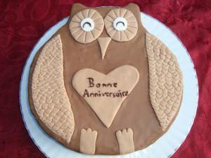 Recette Gâteau chouette en pâte à sucre