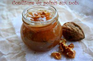 Recette Confiture de poires aux noix