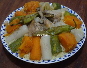 Recette Couscous aux légumes de l'automne et poulet fermier