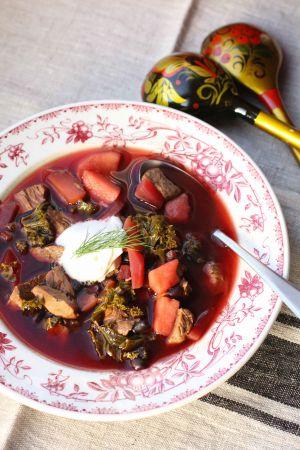 Recette Borscht ukrainien aux pommes et aux haricots noirs