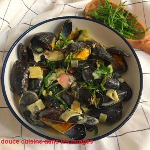 Recette Moules au cidre et salicornes