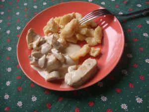 Recette Emincé de poulet et champignons pour un Tour en Cuisine