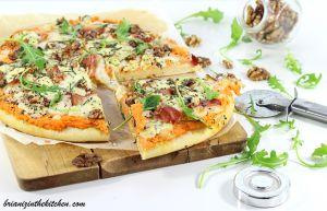 Recette Pizza à la Patate Douce, Bleu, Jambon Cru & Mozzarella