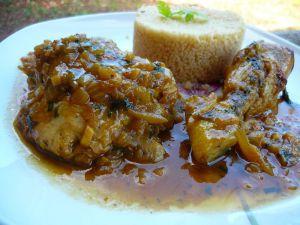 Recette Poulet à la marocaine, poulet m'chermel