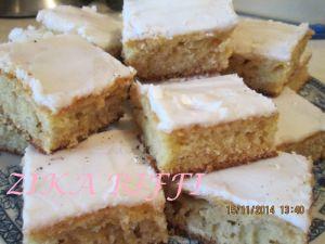 Recette Gâteau - flan glaçage au citron - de maman