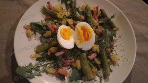 Recette Salade de pissenlit et asperges