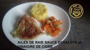 Recette Ailes de raie sauce echalote et vinaigre de cidre a l'omnicuiseu