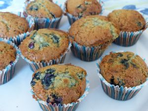 Recette Muffins américains aux myrtilles