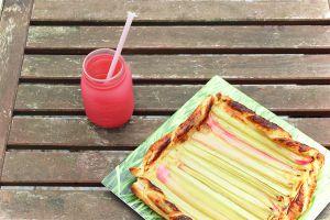 Recette Tarte à la rhubarbe au miel de pissenlit