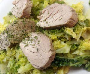 Recette Filet mignon de porc au chou
