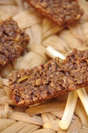Recette Barres de céréales chocolat et pommes