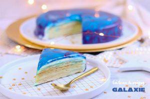 Recette Gâteau de crêpes galaxie