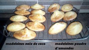 Recette Madeleines  à la noix de coco ou poudre d'amandes (thermomix)